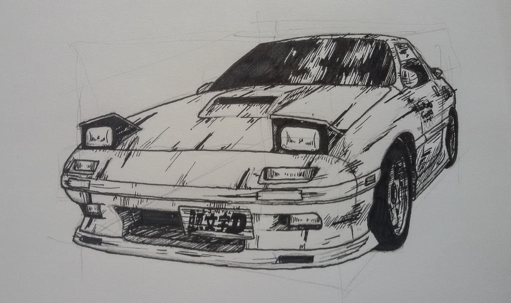 Mazda rx-7  initial D by gigoneaWORLD