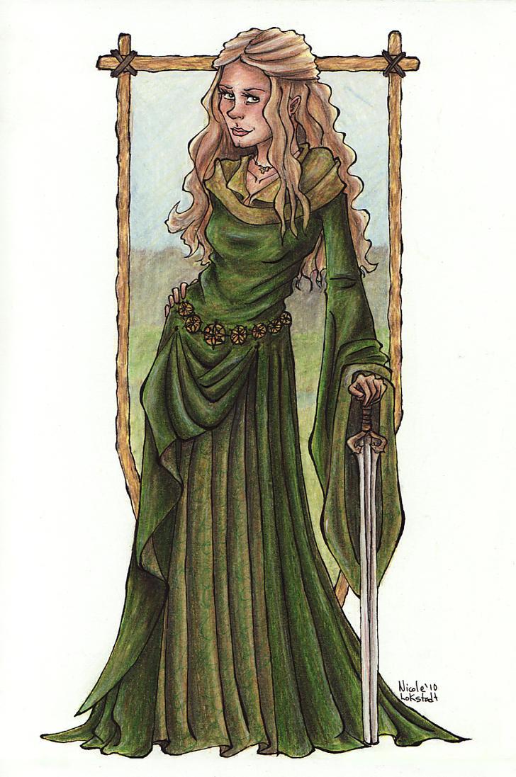 Eowyn Green Dress