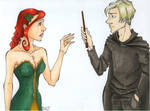 Draco Forks over his Wand