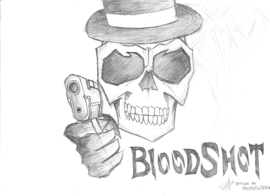 how to draw a skull with guns