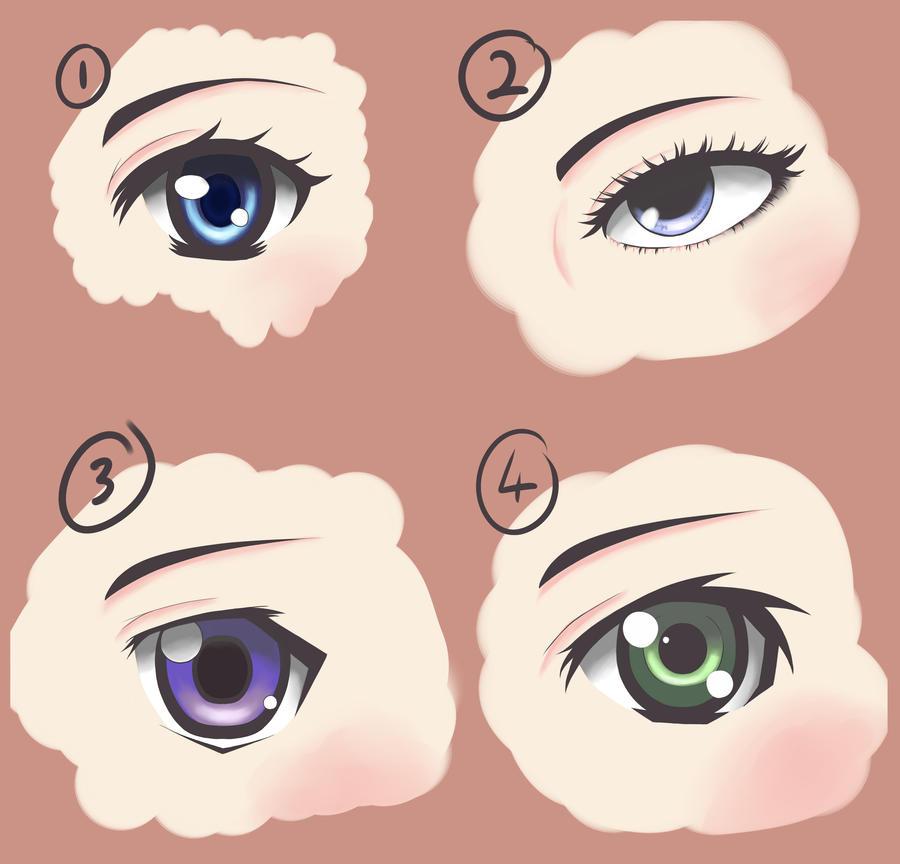 Manga Style Female Eyes 1 by Andrewzero on DeviantArt