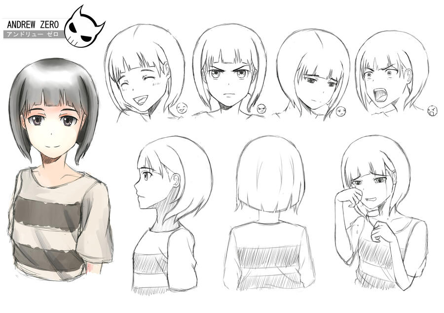 Anime Female Character Design : Character design girl by andrewzero on deviantart