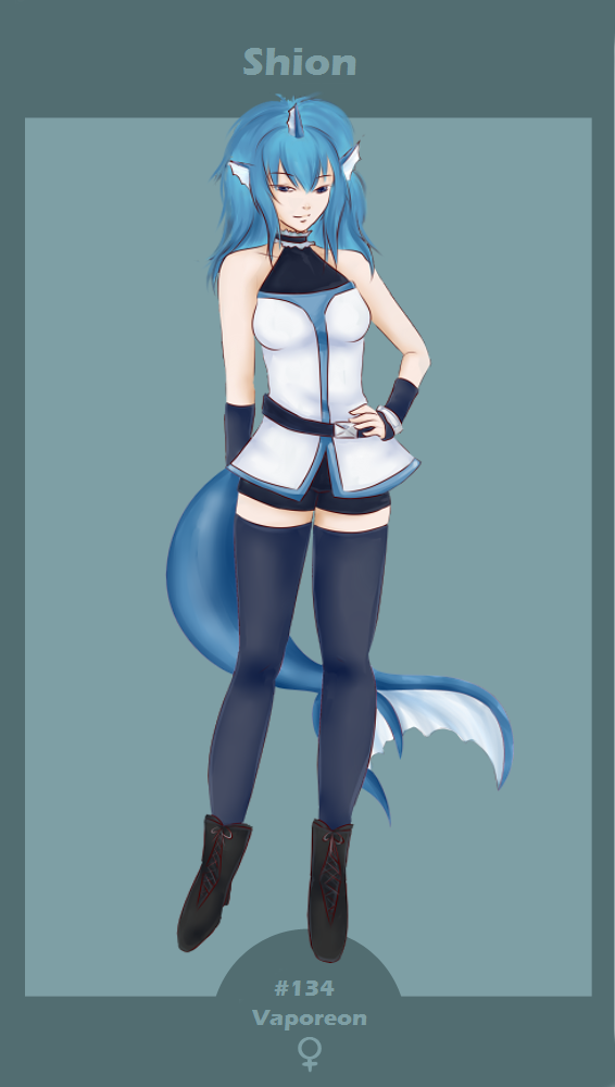 Poketown - Shion the vaporeon by Hestia-Sama