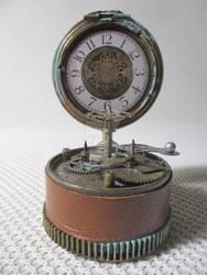 Pisapapeles como reloj estilo Steampunk by MANGOCreativeStudio