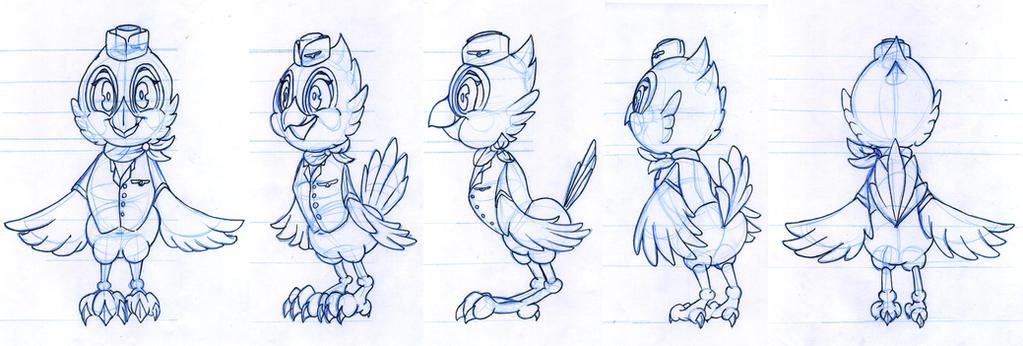 Good Character Design Portfolios : Sheridan animation portfolio roxanne rotation by