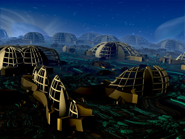 Future City  On Mars by damndansdawg