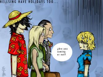 Hellsing have holidays too... by FrauLuminara