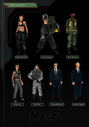 Characters SET 3 Syphon Filter 1999