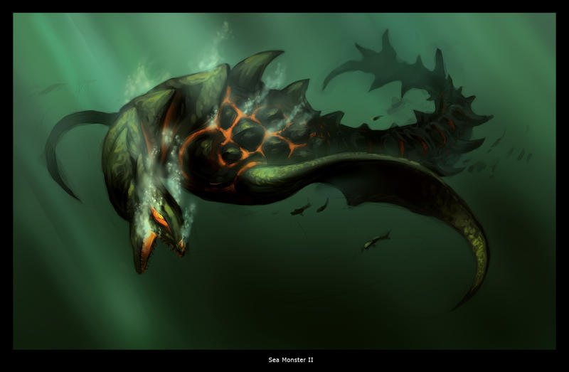 Sea Monster 2 by RHADS on DeviantArt