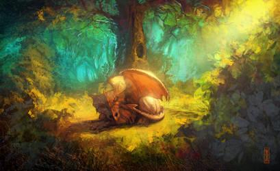 Tired Dragon by RHADS
