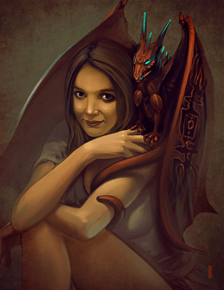 Girl and Dragon by RHADS