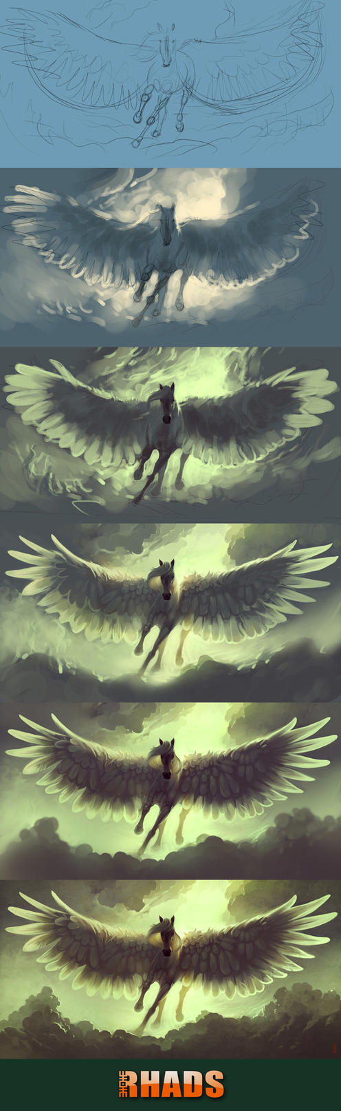 Process of Sky Horse by RHADS