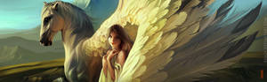 Girl and Pegasus Fragment