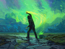 Late Night Painter by RHADS