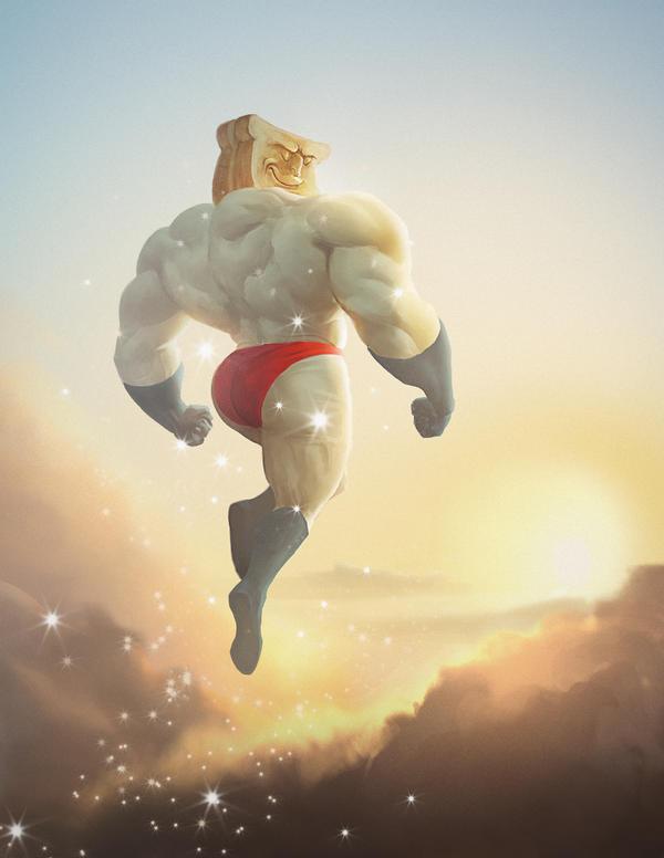 Powdered Toast Man by kike1988