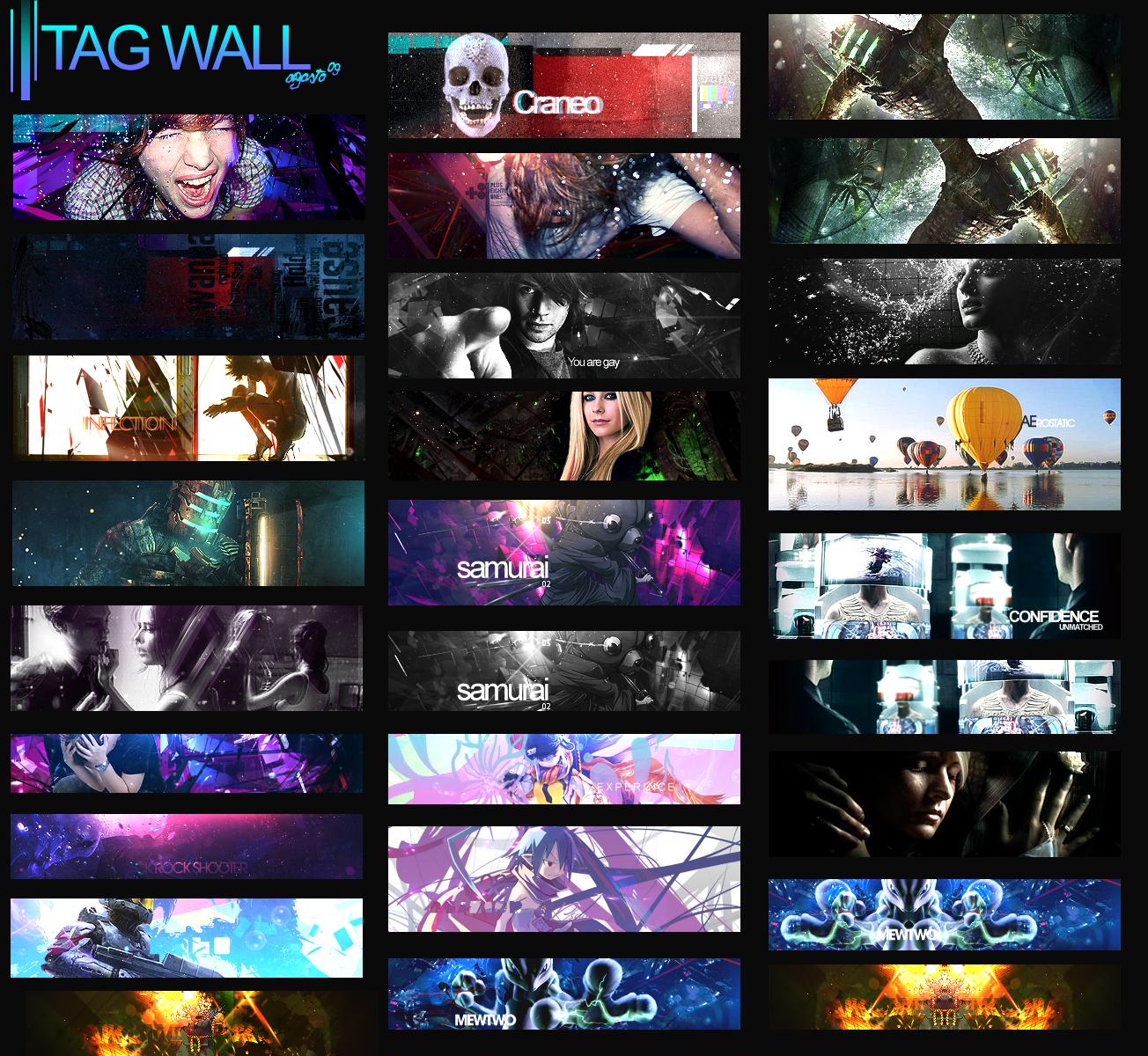 Tag Wall Paranoid by motin45
