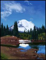 Speed Paint: Mount Rainier