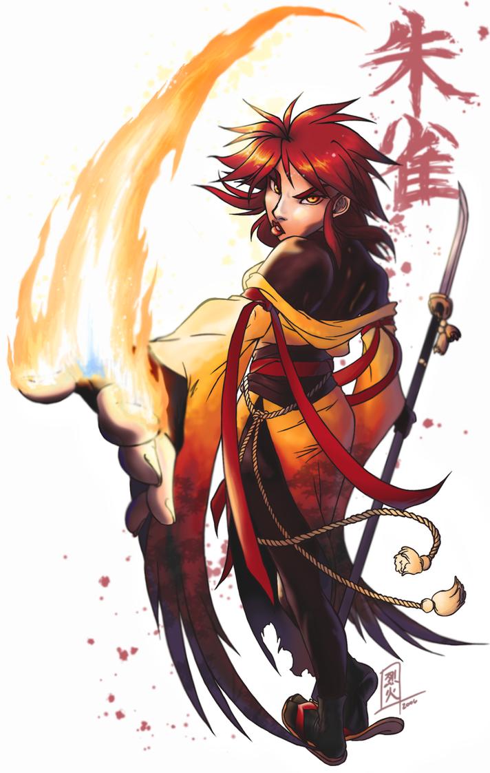 Suzaku: Lips of Fire by rekka