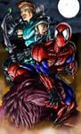 Hawkeye and Spiderman