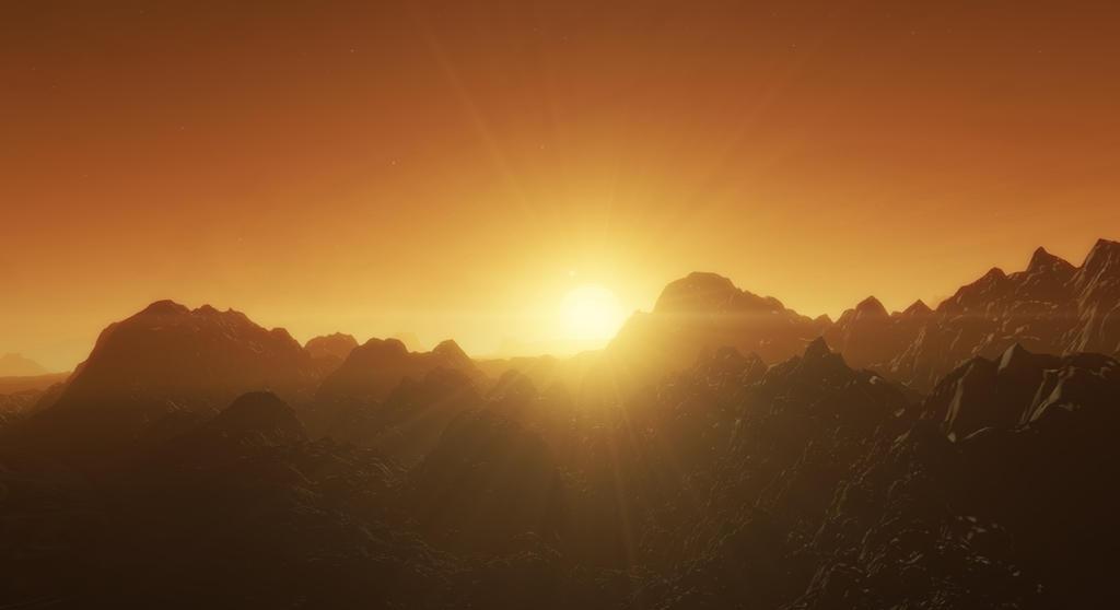 Evening On A Hot Desert Planet By TheWhiteGuardianArt On DeviantArt - A hot desert
