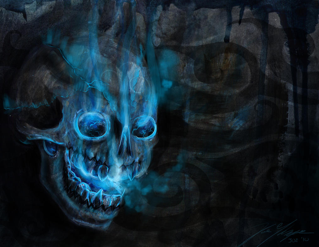 blue wallpaper skull - photo #28