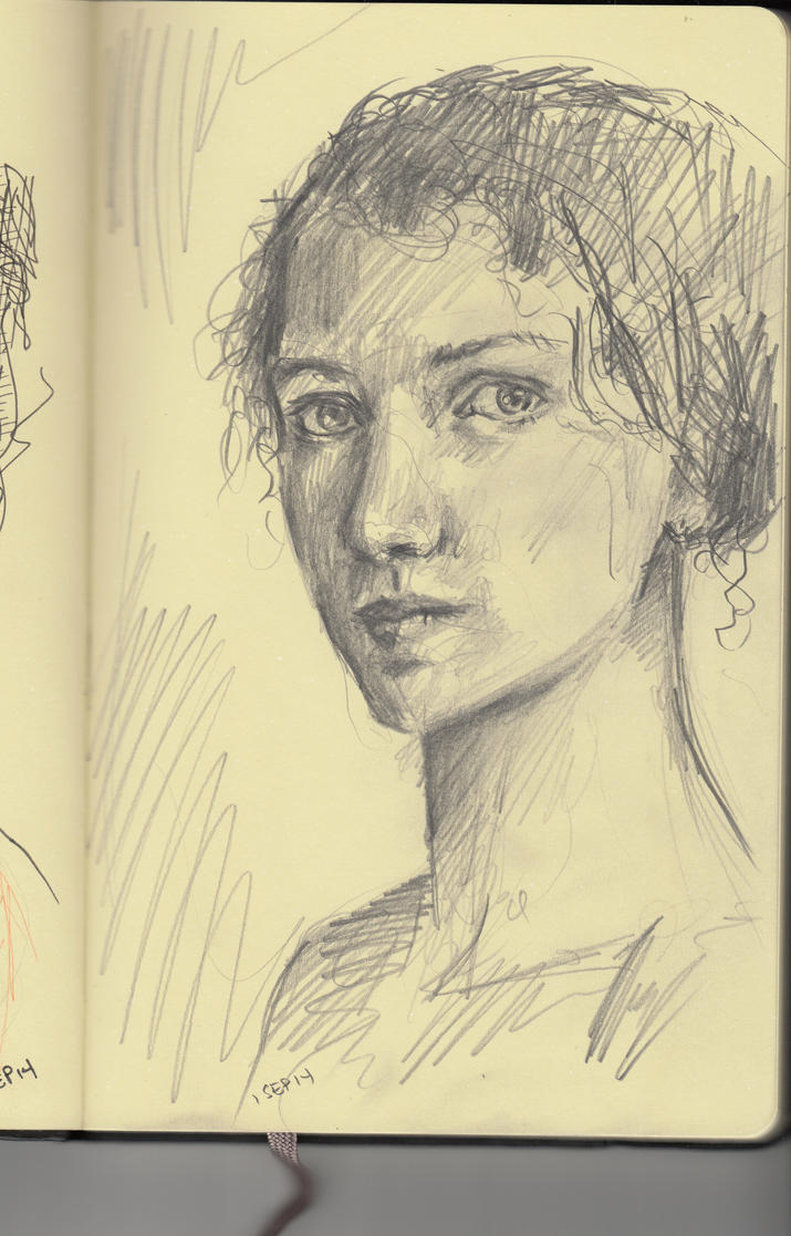 Woman with Curly Hair by cornonthe-cob
