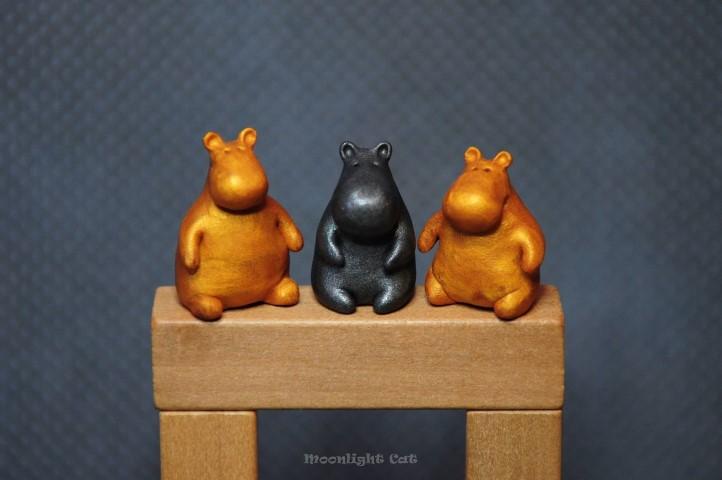 Hippos by MoonlightCatHandmade