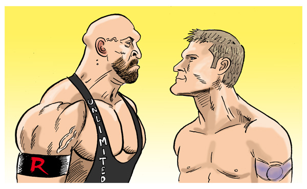 Ryback Vs Jericho by jkipper