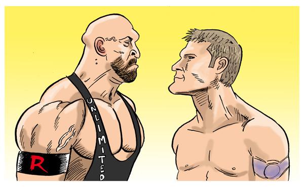Ryback Vs Jericho by jkipper