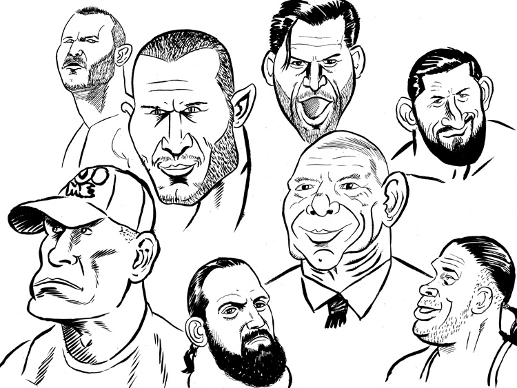 wwe daniel bryan coloring pages | Faces Of Wwe by jkipper on DeviantArt