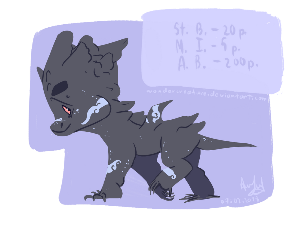 Adoptable (Plagon - Mercury) by WonderCreature