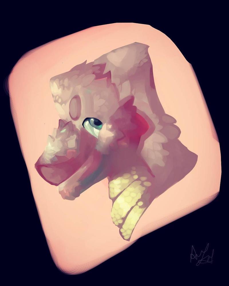 dragon headshot by WonderCreature