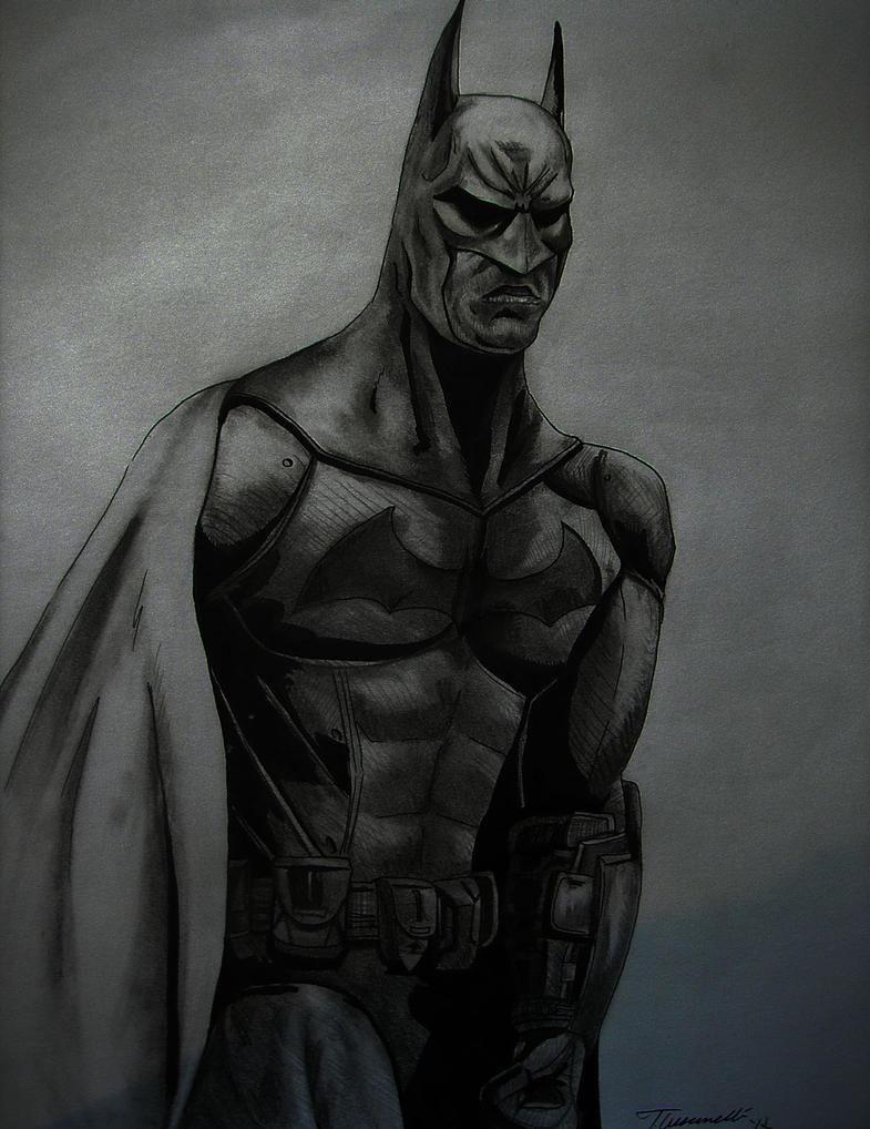 Arkham City Batman Drawing 2 by cusT0M on DeviantArt