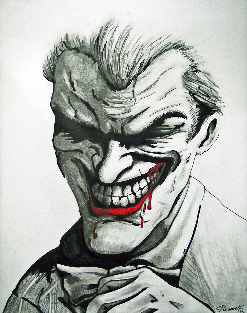 Joker Scribble Drawing : How to draw joker arkham