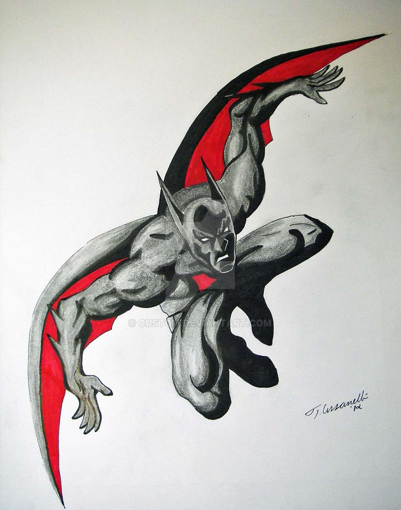 Batman Beyond Drawing by cusT0M on DeviantArt