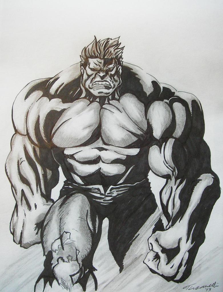 Hulk Drawing by cusT0M on DeviantArt