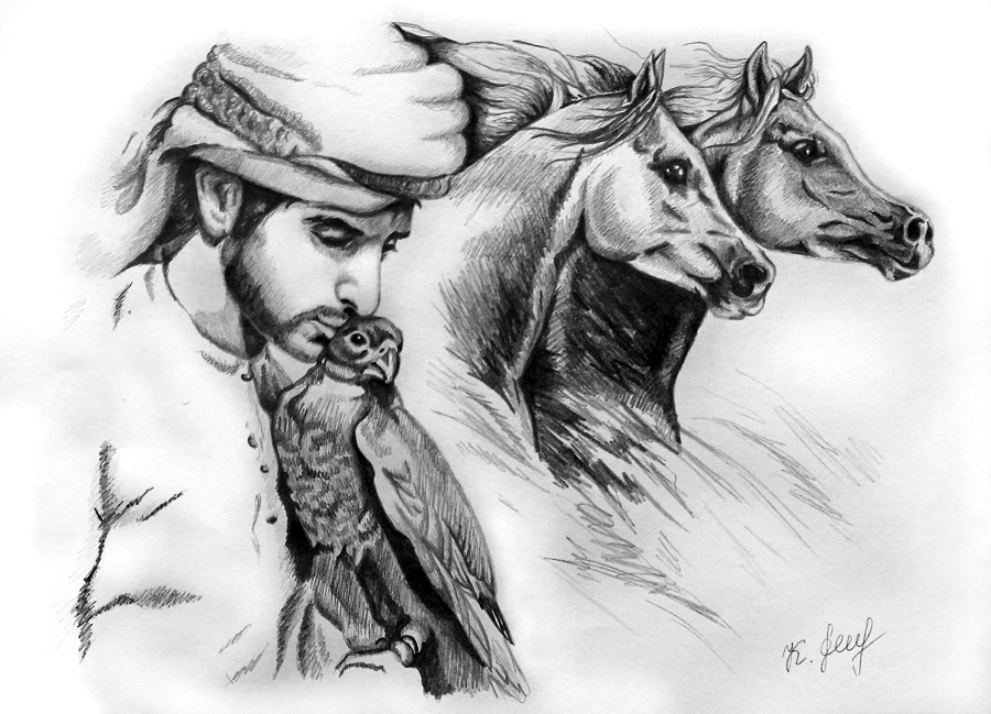 The portrait of arabian prince by karinalovedubai
