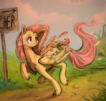 Horse escaping the butchers to live another day by Duckjifs246