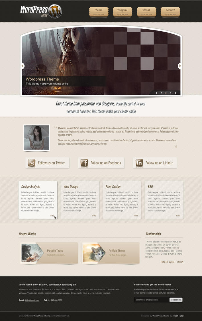 Wordpress Theme by hitlat