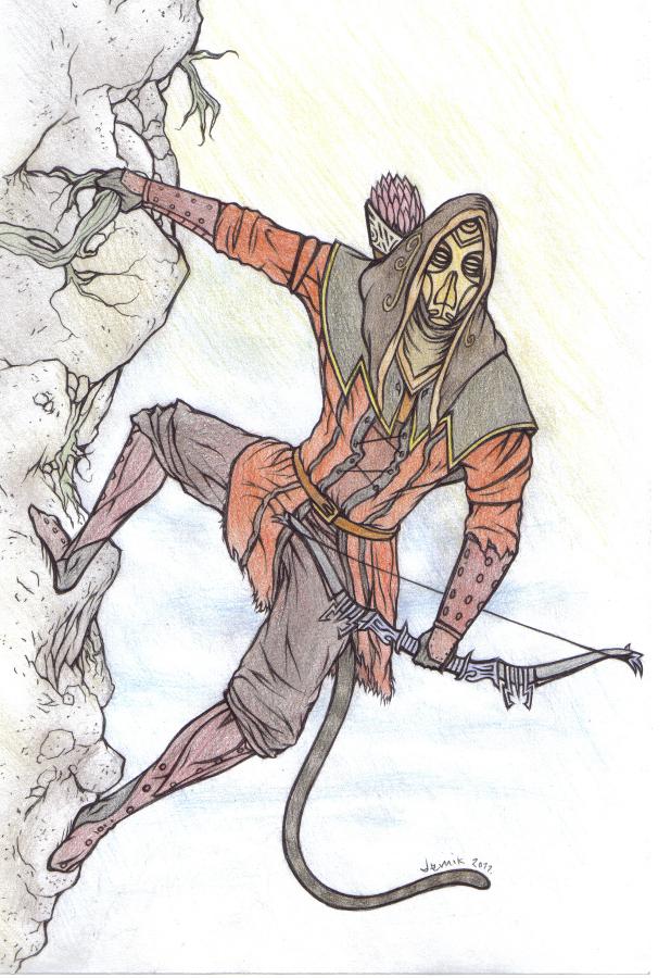 Skyrim - Khajiit Archer by demik109