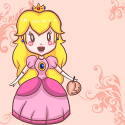 . CHIBI PEACH . by blueandpurple-rock