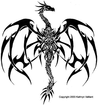 Kats Dragon Tatoo Version 1 by wasurera