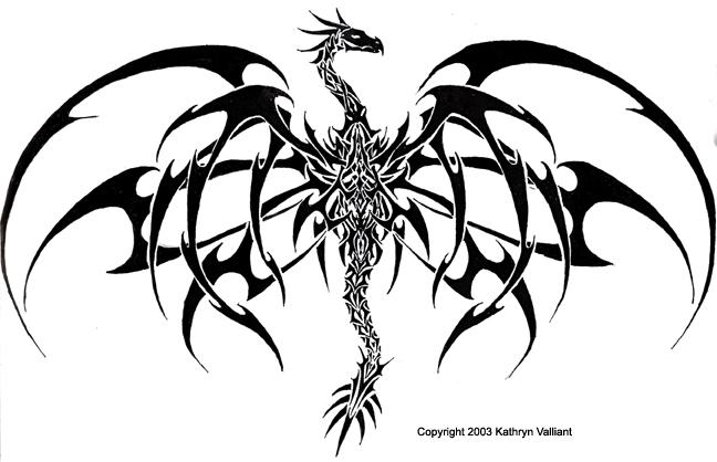 Kats Dragon Tattoo Version 2