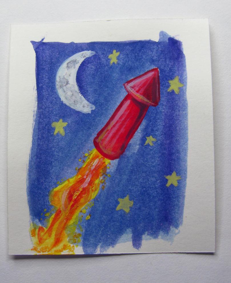 Rocket In The Sky By LazyGuerrilla On DeviantArt