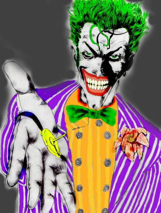 the Joker.. with Arkham flair. by ClownPrinceOfCrime69