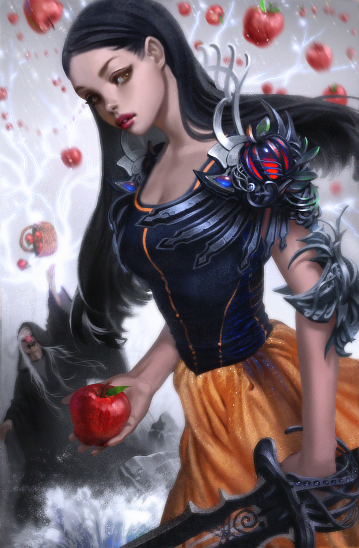 snow white warrior and the wicked witch by calebbrown on