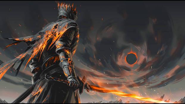 Warrior holding sword