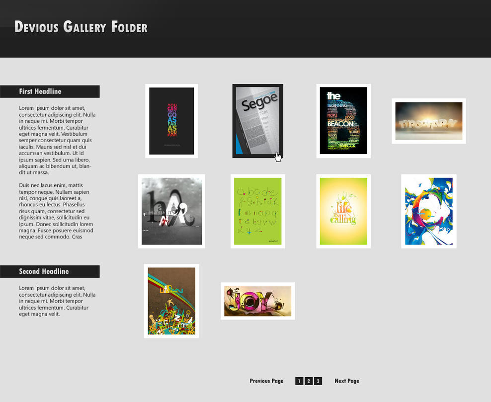 Simple and Clean Gallery by VeraCotuna