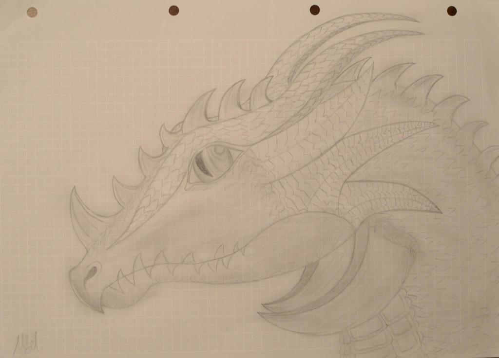 Cute Dragon Pencil Drawing by PolarisDrawings