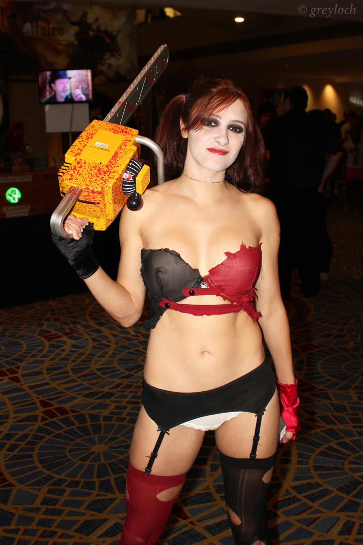 Lingerie-Chainsaw Harley by greyloch-md
